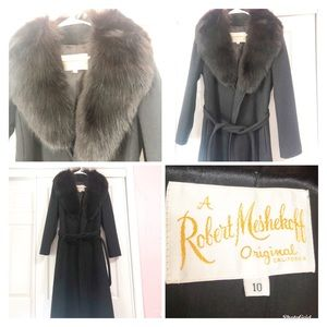 Robert Meshekoff Women's Vintage Fur Dress Coat 🌸